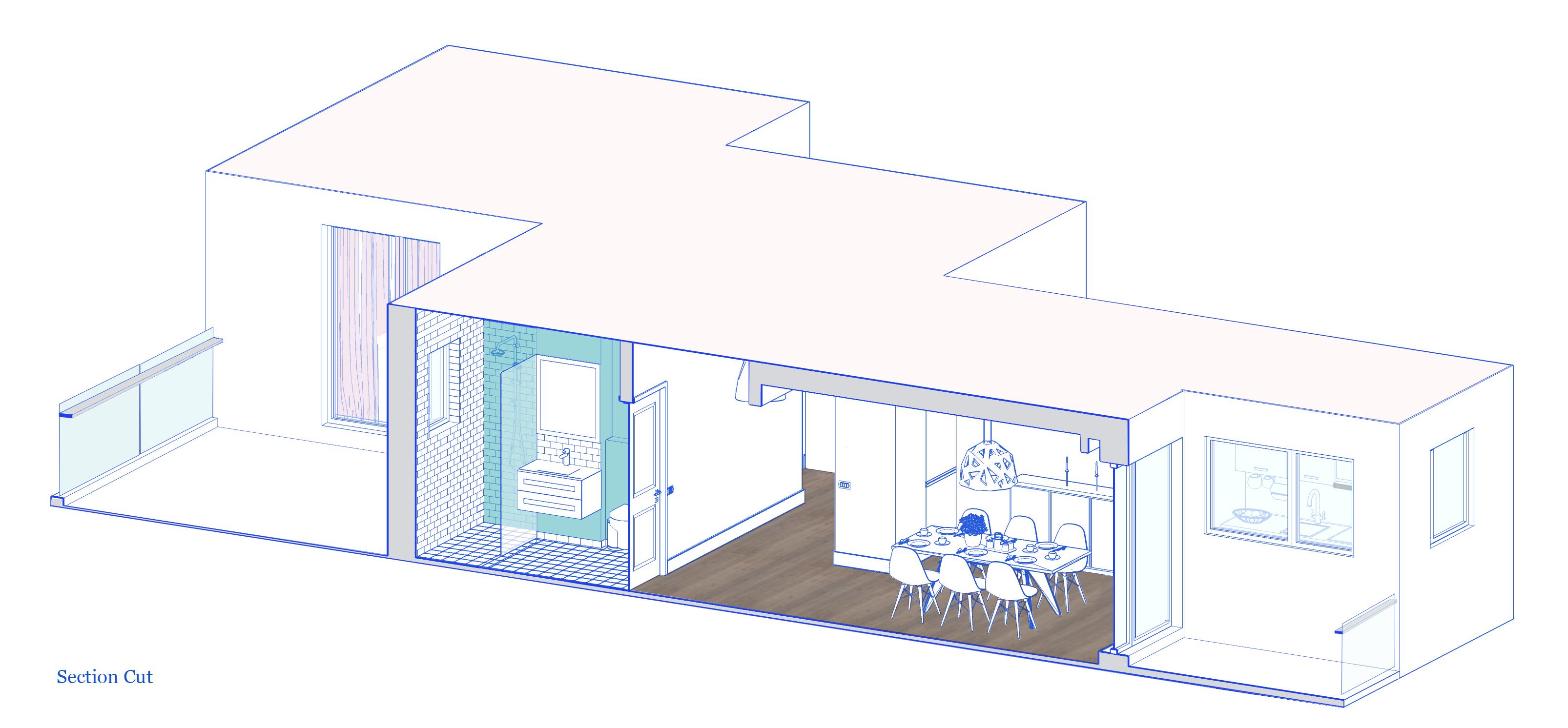 Section Cut Apartment 07 Interior Architecture